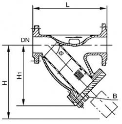 SRYⅠ同径铸制Y型过滤器 PN1.6,2.5MPa