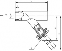 SRYⅣ承插焊连接Y型过滤器 PN10.0MPa