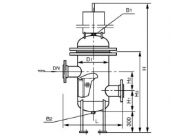 SRBⅣ高低接管封头篮式过滤器 PN2.0 MPa
