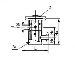 SRBⅤ高低接管重叠式篮式过滤器 PN2.0 MPa