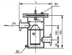 SRBⅢ高低接管平板篮式过滤器