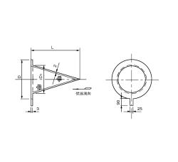 SRZⅠ尖顶锥型过滤器 PN2.0~5.0,10.0MPa