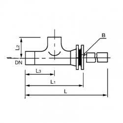 SRTⅠ、SRTⅡ正、反折流式T型过滤器 PN2.0 5.0MPa